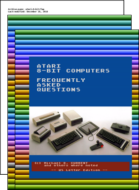 Atari 8Bit FAQ Frequently Asked Questions