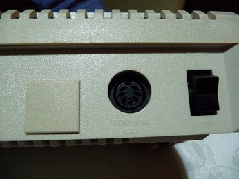 SECAM Atari 800XL Power connector close-up