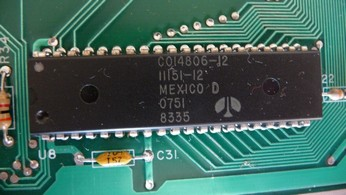 SECAM Atari 800XL CO14806, 6502 CPU chip