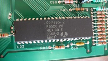 SECAM Atari 800XL CO14795, PIA chip