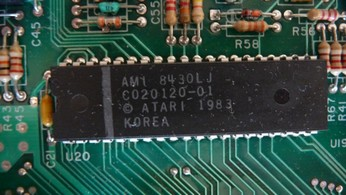 SECAM Atari 800XL CO20120, GTIA chip
