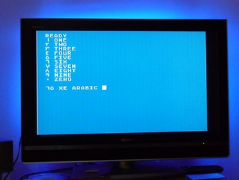 'Star' Arabic Atari 65XE Numbers 0 to 9, in Arab