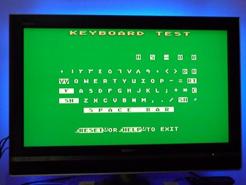'Star' Arabic Atari 65XE Keyboard self-test