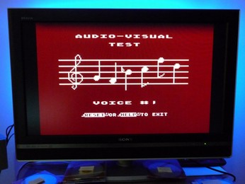 'Star' Arabic Atari 65XE Audio Visual self-test